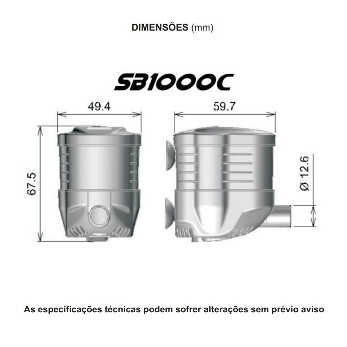 Bomba Submersa Sarlo Better SB 1000c 400 A 1000l/h 110v