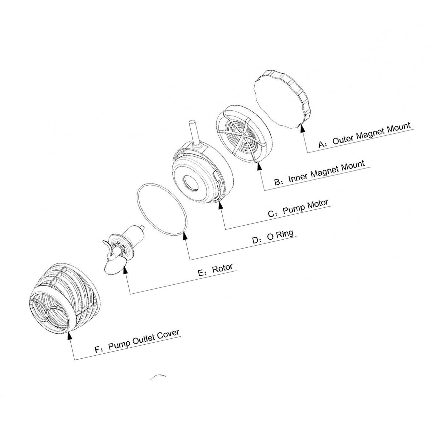 Bomba Wave Maker Octo Pulse OP-2 6000 L/H