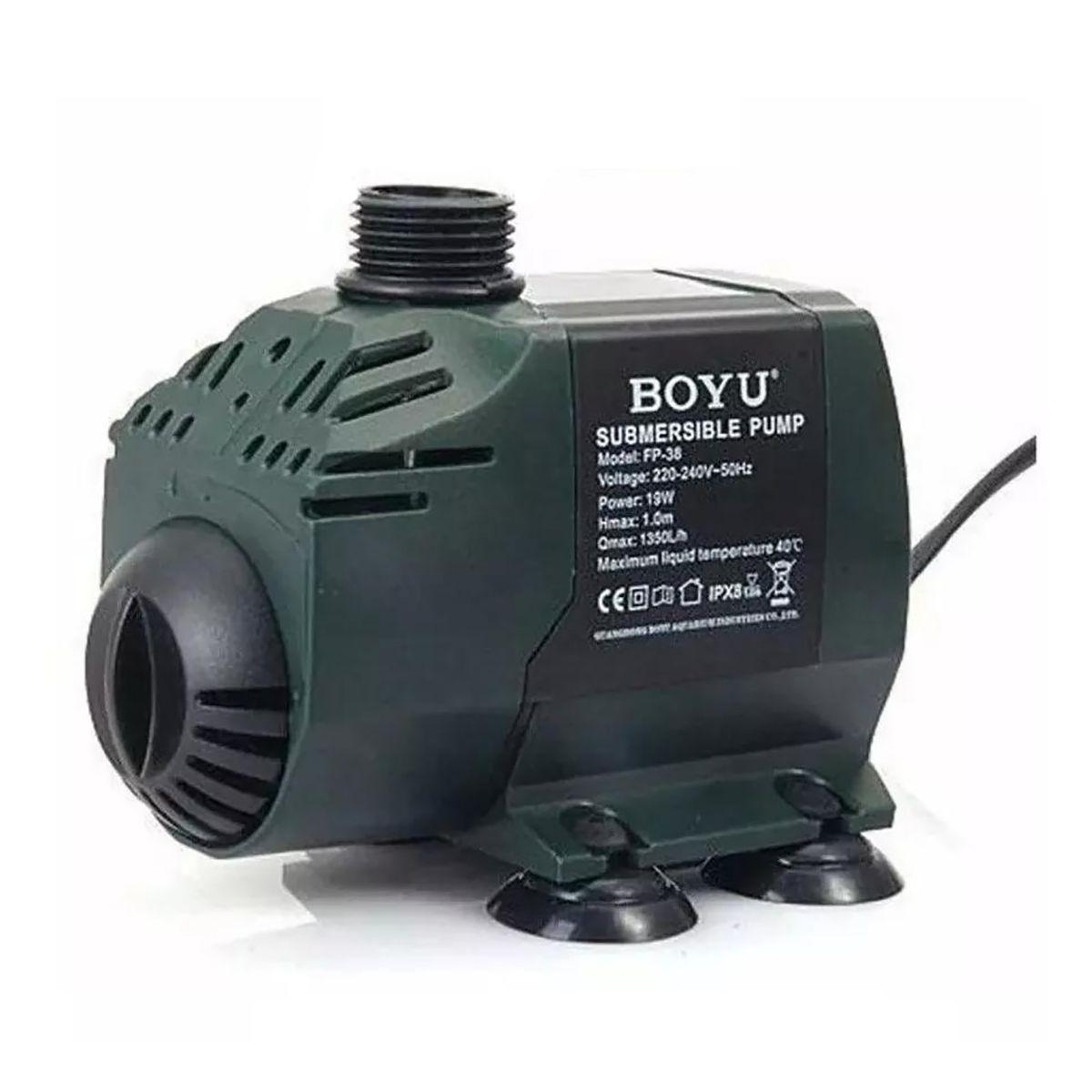 Bomba Submersa Boyu FP 38 19w 1350l/h Lagos e Fontes