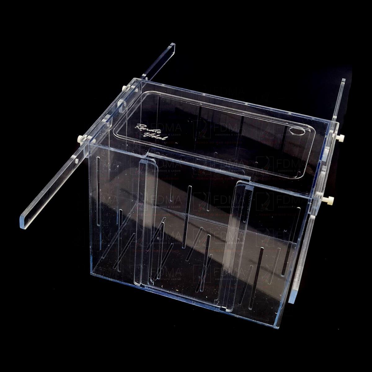Caixa de Aclimatação/Ambientadora Acrílico 30Cx20Lx25A - RRJ