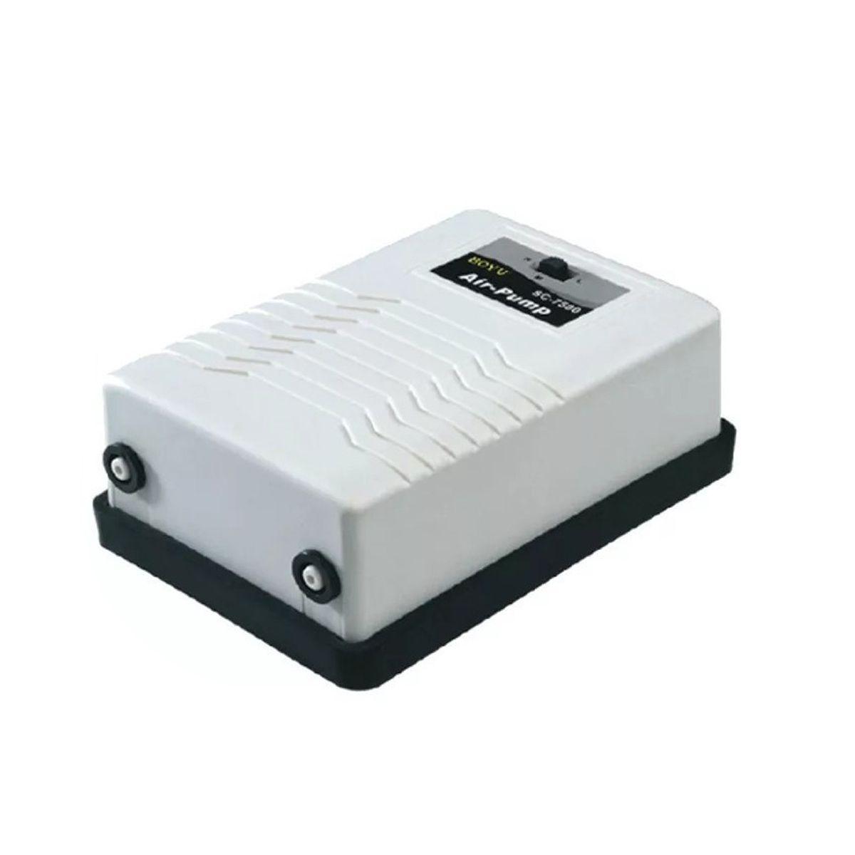 COMPRESSOR DE AR BOYU SC-7500 2X3L/MIN C/ 2 SAIDAS 220V
