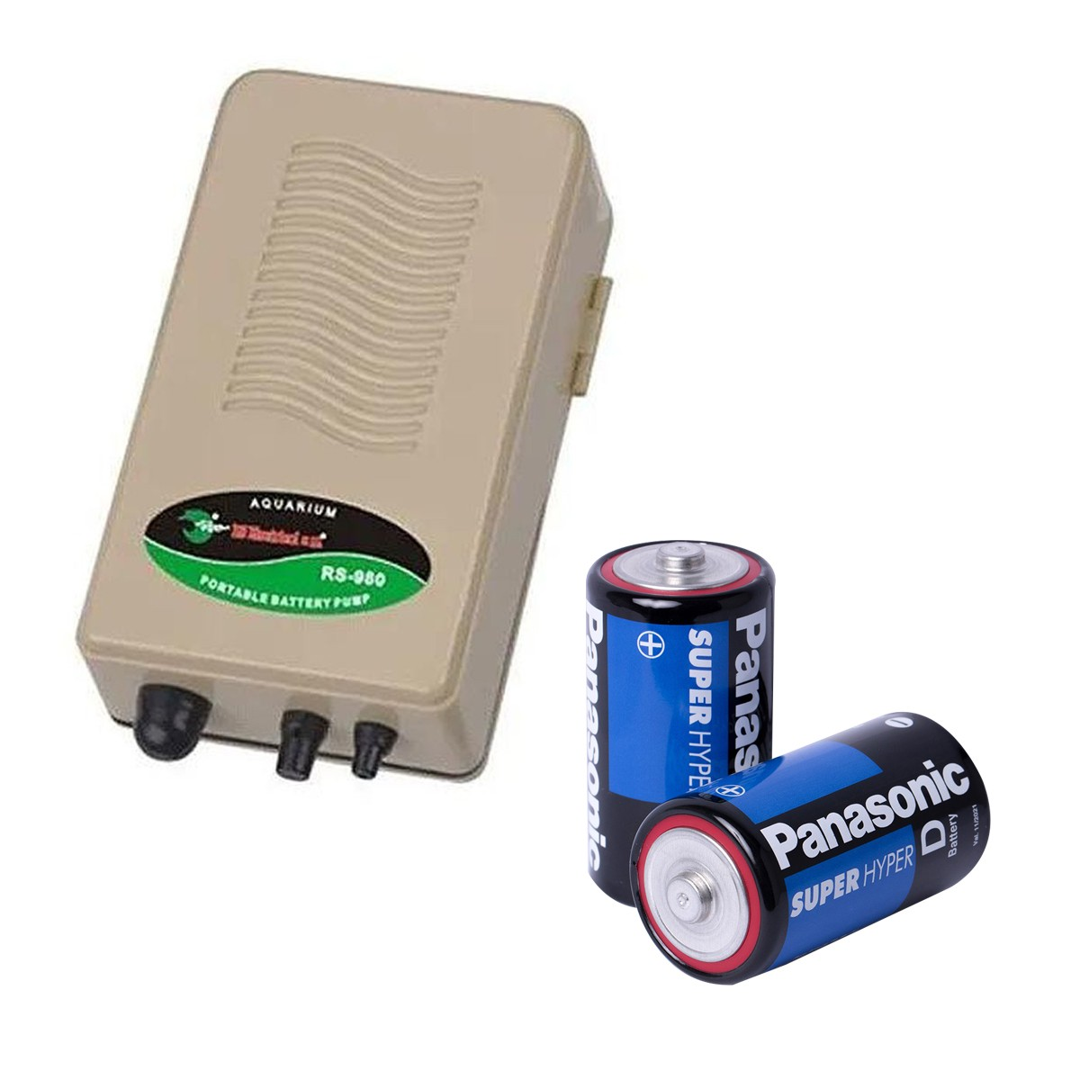 Compressor de Ar RS Electrical RS 980 + Pilha para Aquários