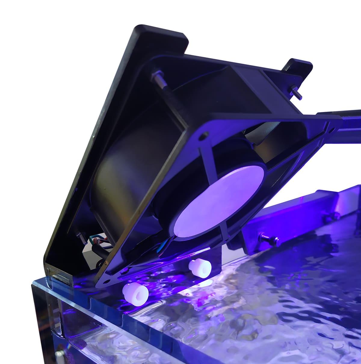 Cooler Resfriador p/ Aquários Trava Francesa / Vidro Simples