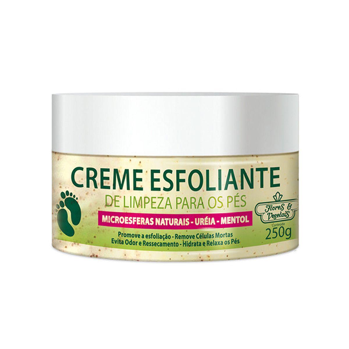Creme Esfoliante Limpeza p/ os Pés Flores e Vegetais - 250g