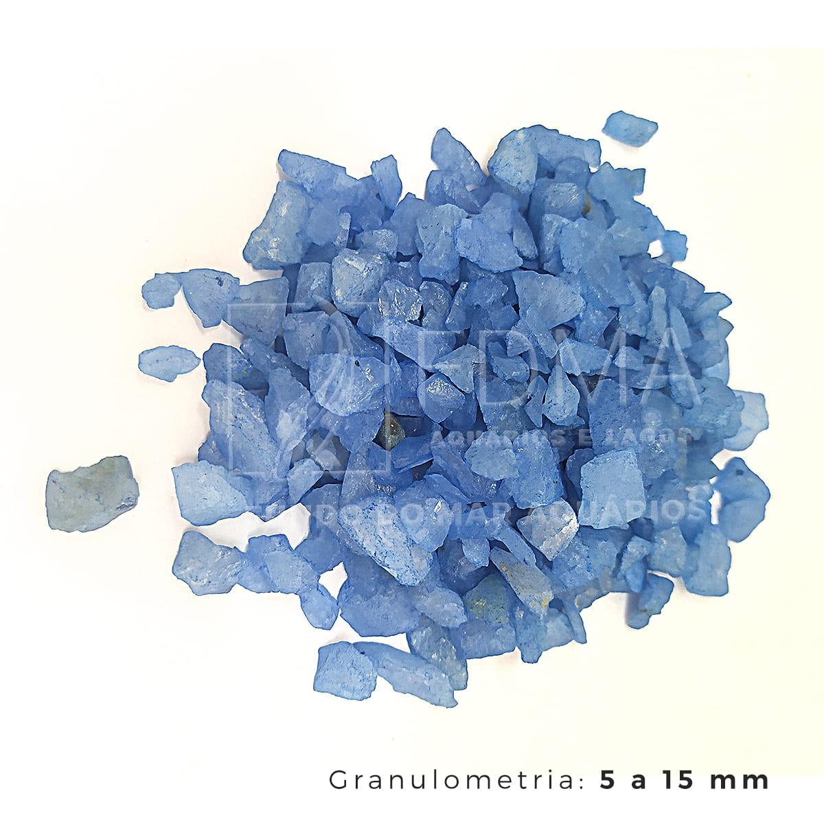 Cristal Quartzo Decoração Aquário e jardim Azul Flúor - 1kg
