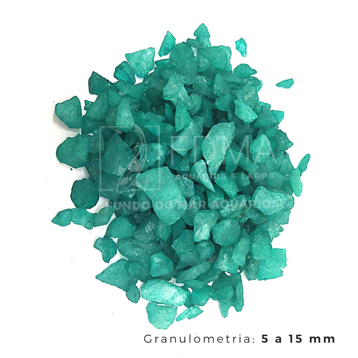 Cristal Quartzo Decoração Aquário e jardim Verde Escuro -3kg