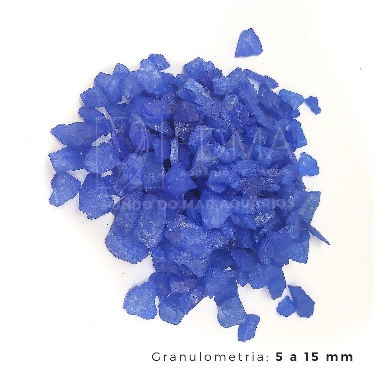 Cristal Quartzo Decoração Aquários e jardins Azul Escuro 3kg