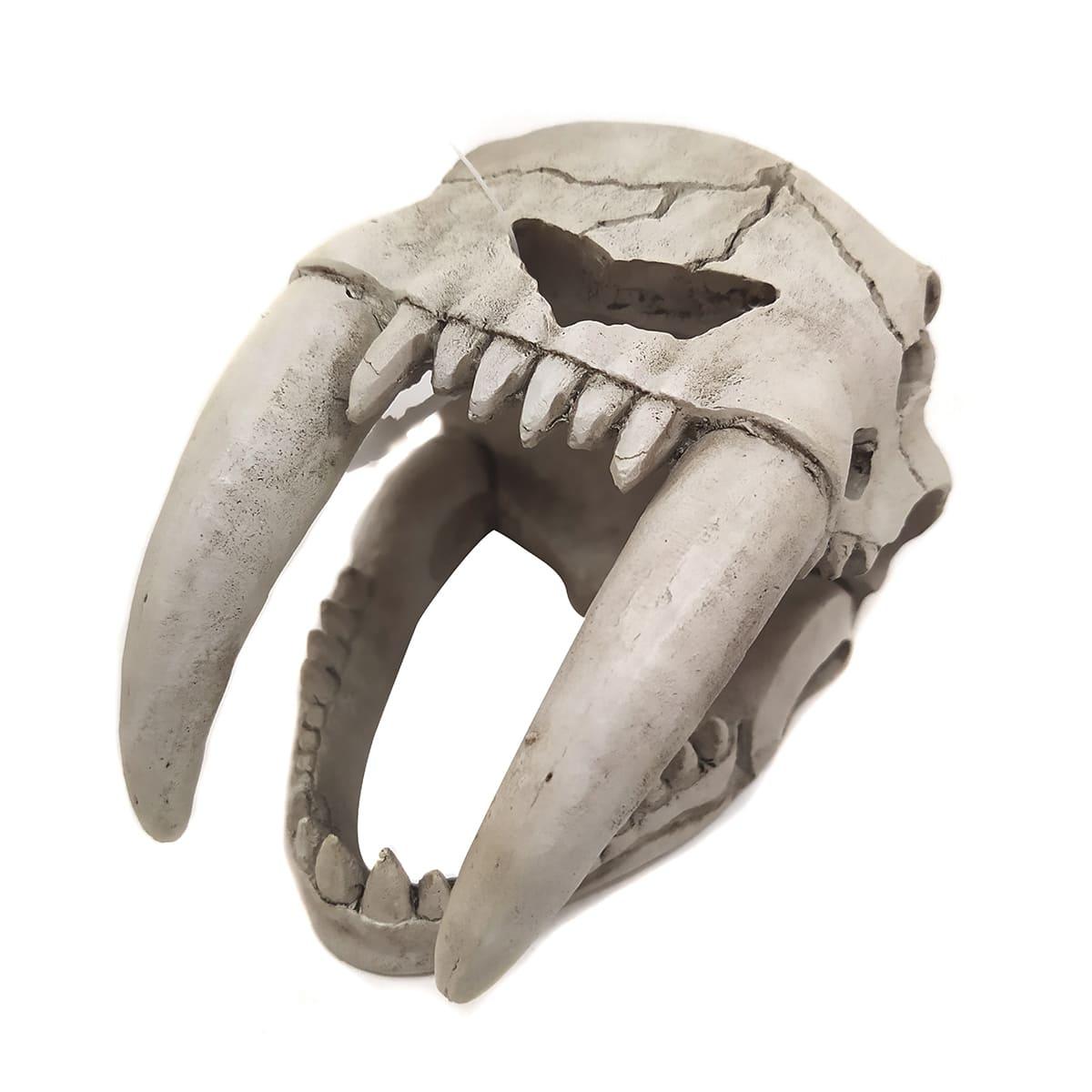 Enfeite de Resina Cabeça de Tigre Dente de Sabre P - Soma - 057598