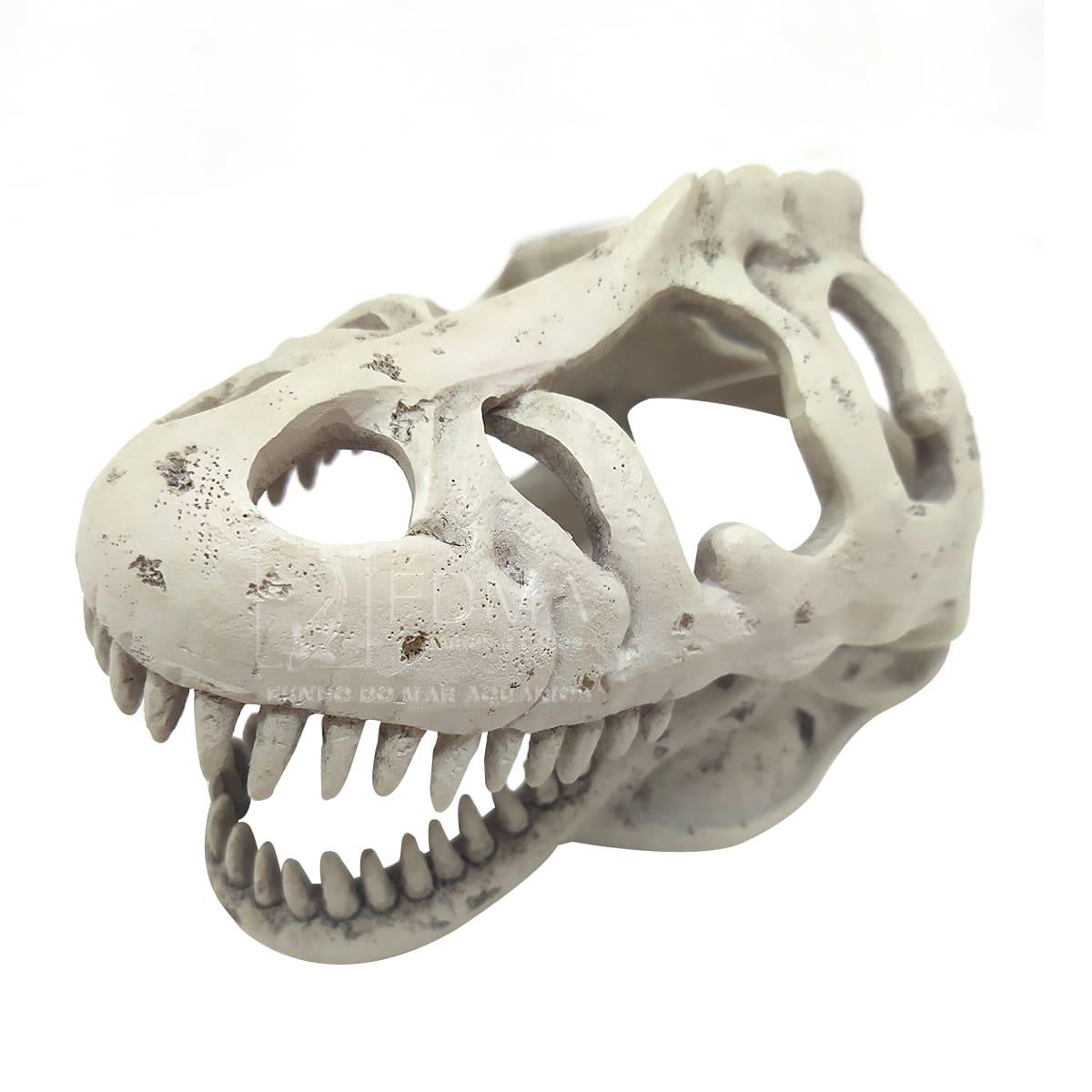 Enfeite de Resina Cabeça de Tiranossauro Rex Pq - Soma - 054036