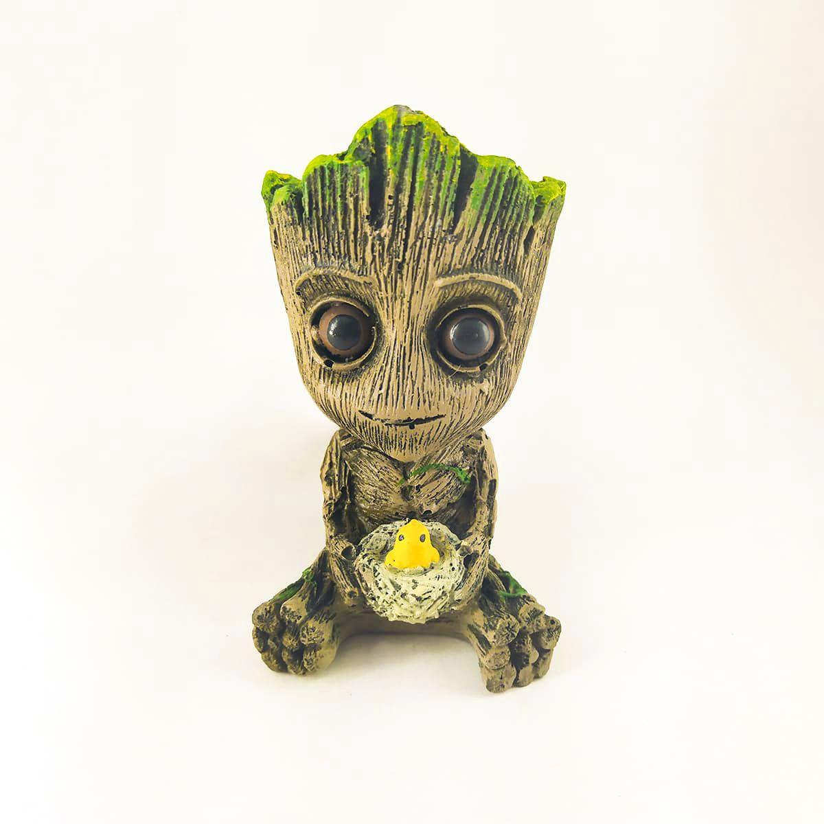 Enfeite de Resina para Aquário/Suculenta - Baby Groot Ninho