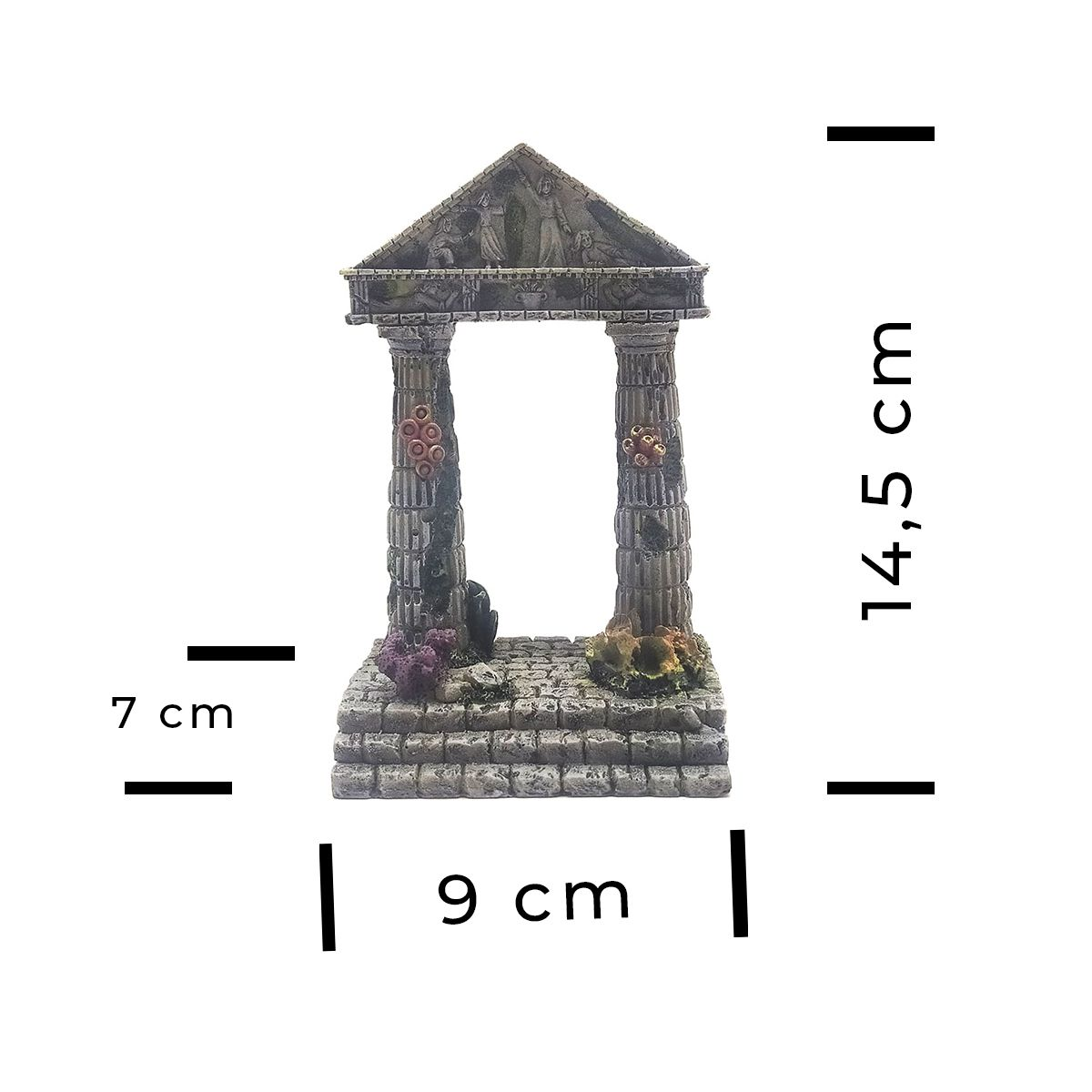 Enfeite para Aquários de Resina Ruína Grega SOMA - 54032