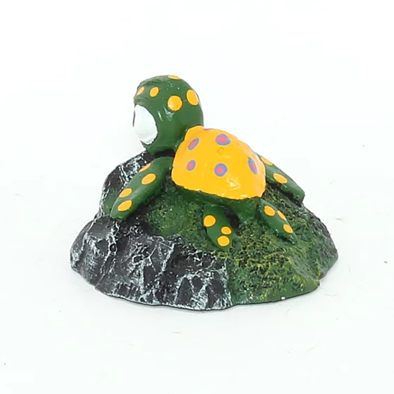 Enfeite de Resina Tartaruga na Pedra Fragata Ornamentos