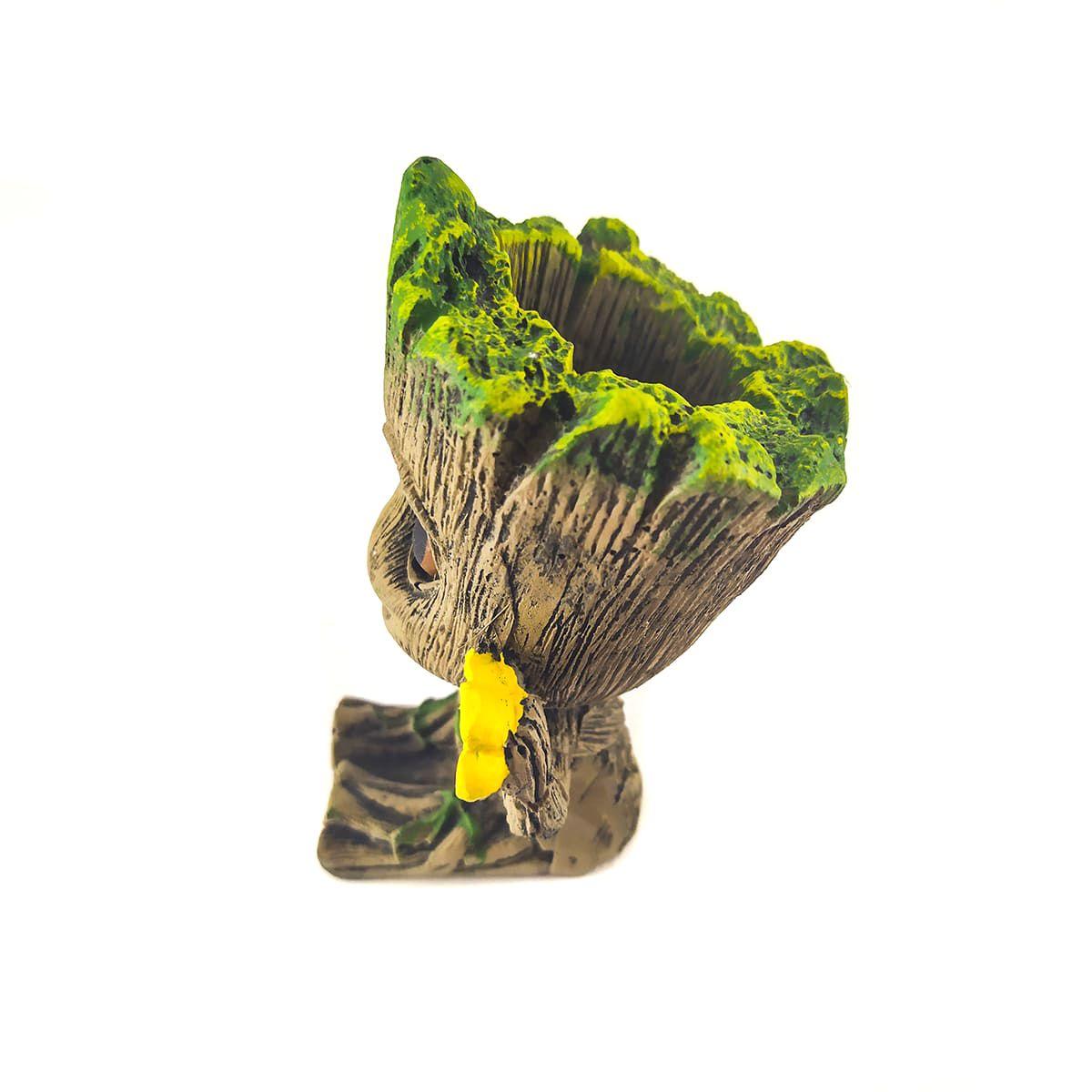 Enfeite de Resina Baby Groot Flor Suculenta/Aquários Fragata