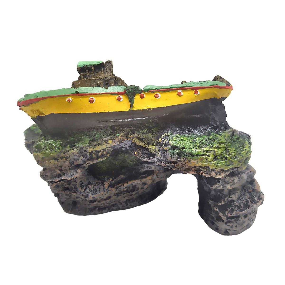 Enfeite para Aquários BARCO DIESEL - Fragata Ornamentos