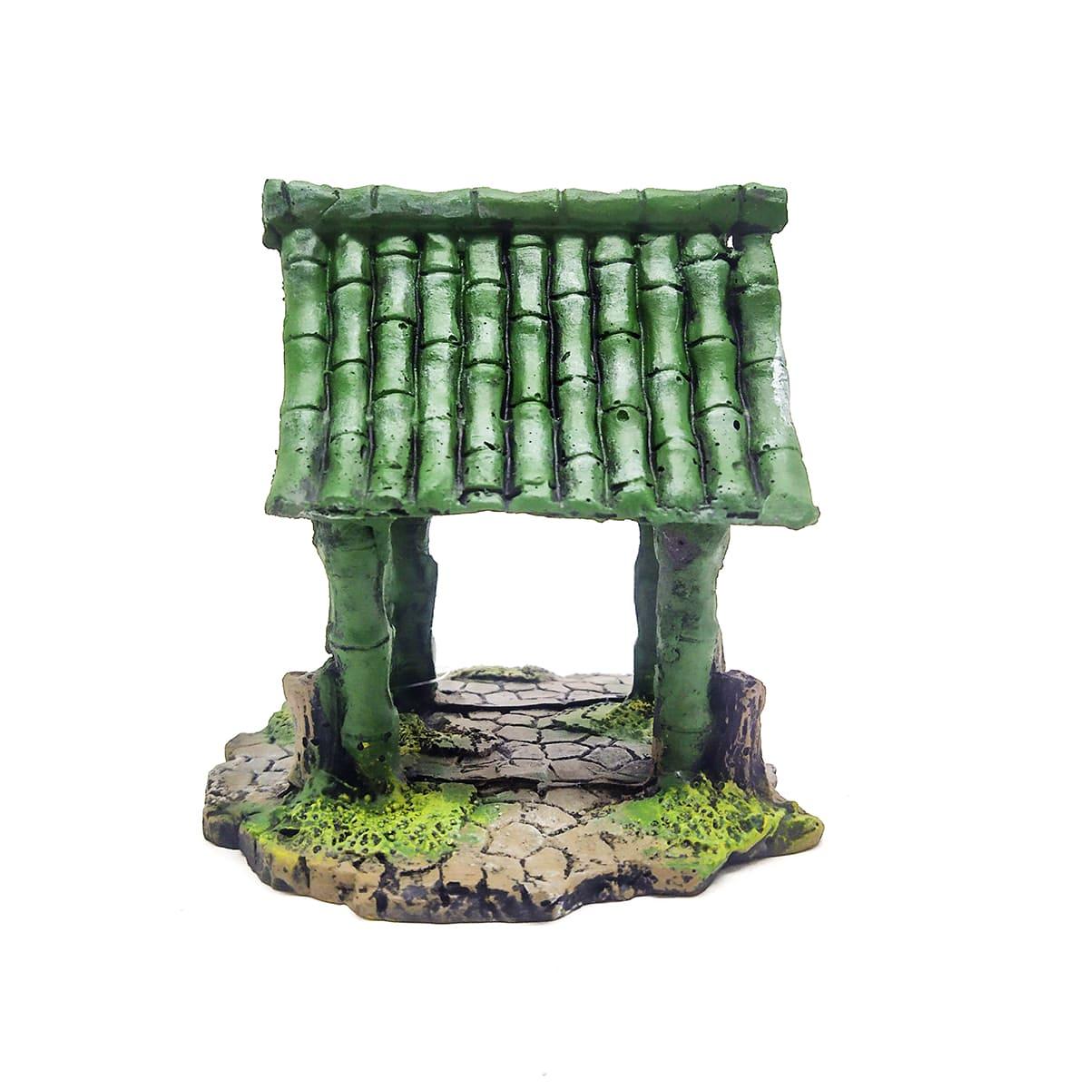 Enfeite para Aquários Cabana de Bamboo - Fragata Ornamentos