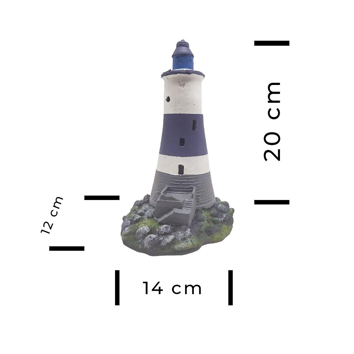 Enfeite para Aquários FAROL - Fragata Ornamentos