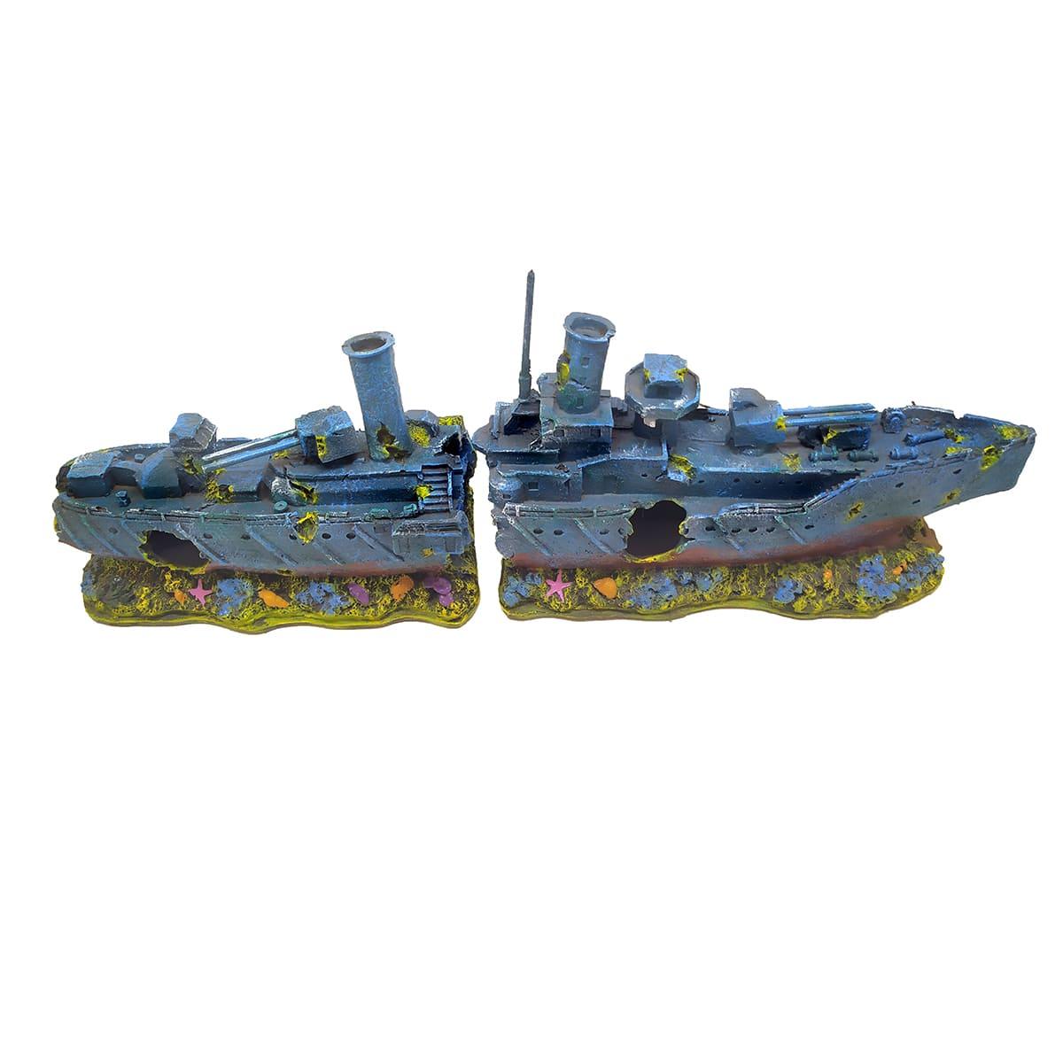 Enfeite para Aquários Navio de 2 partes