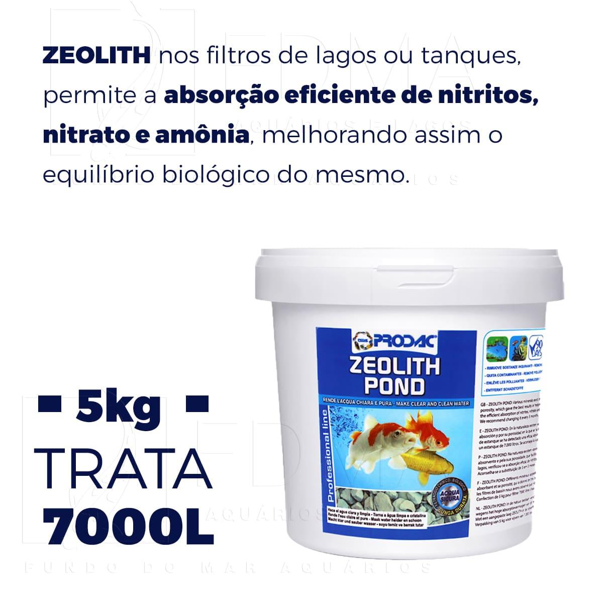 Filtragem Biológica Para Lagos Prodac Zeolite Pond 5kg