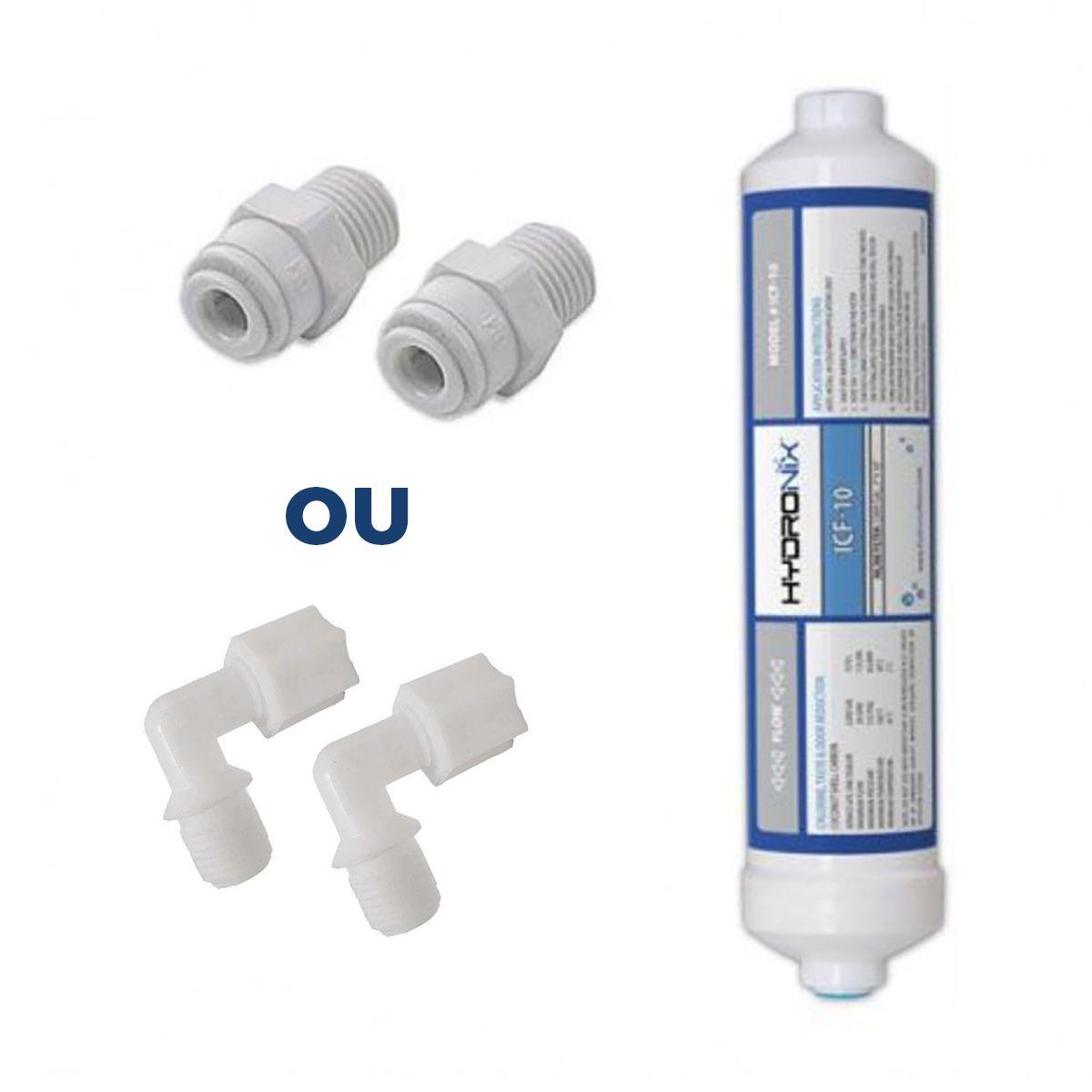 Filtro Água Geladeira Side By Side + conectores