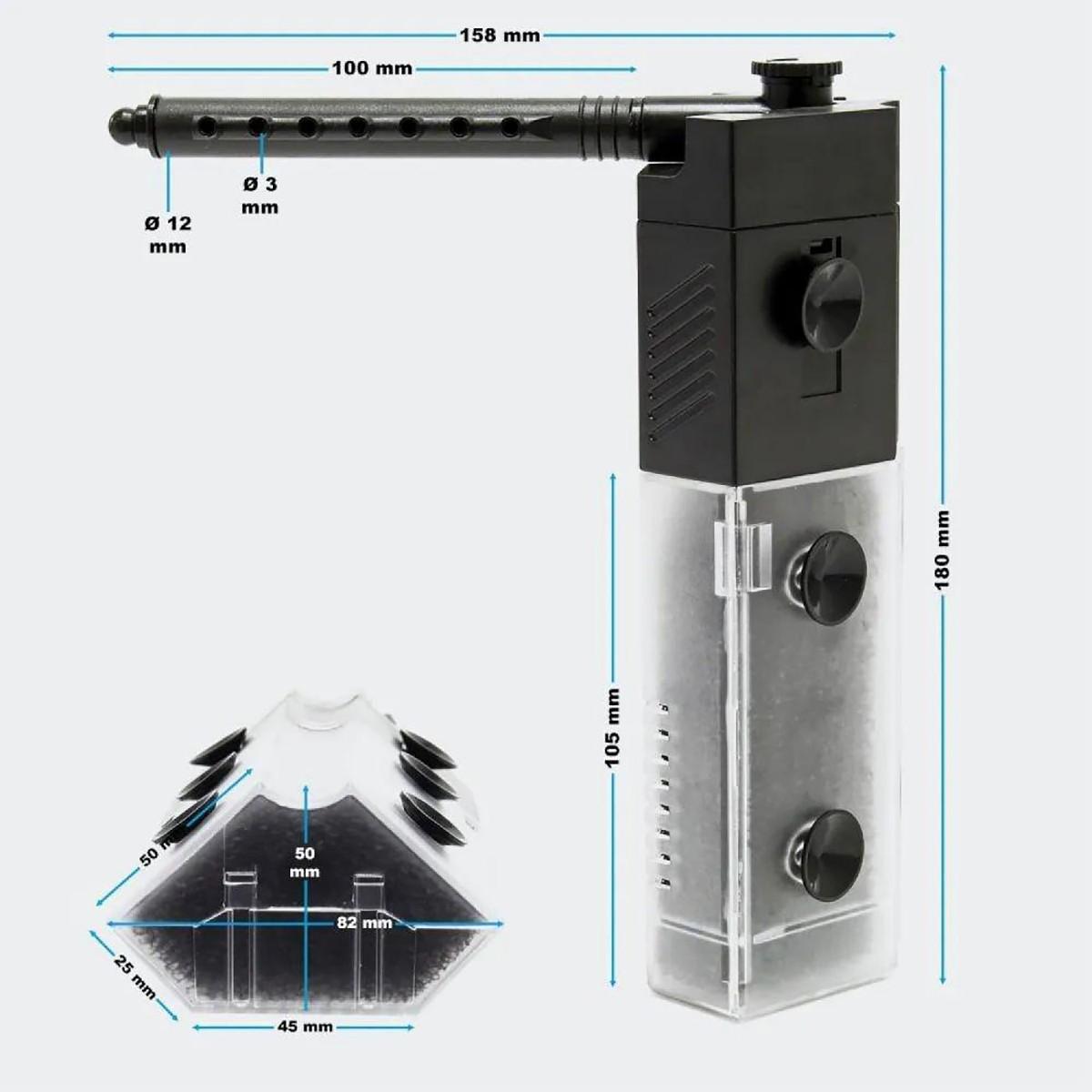 Filtro De Canto para Aquários Sunsun JP-092 250l/h