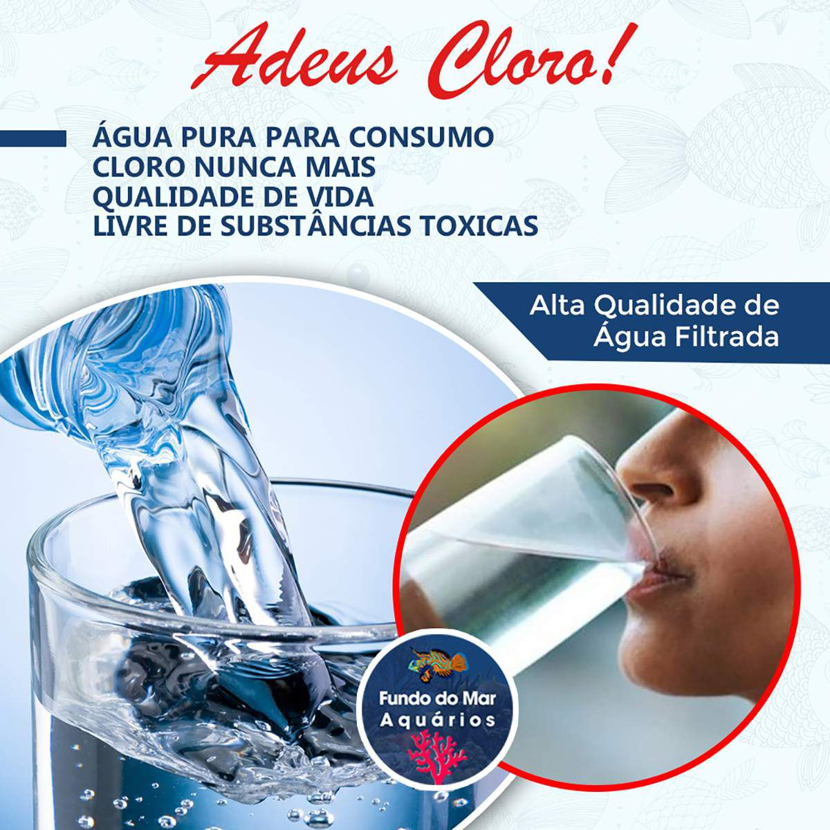 Filtro 3 Estágios Consumo Humano - Remove Cloro e Sujeira