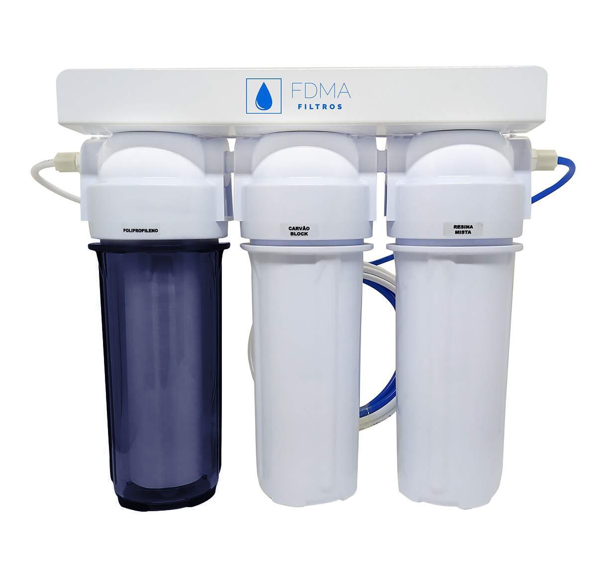Filtro Deionizador 3 Estagios Cerveja e Aquarios