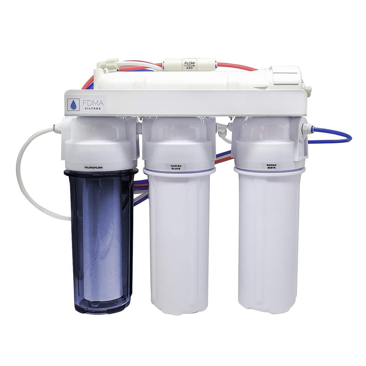 Filtro Osmose Reversa 50gpd + Deionizador 4 Estagios C/ Nfe