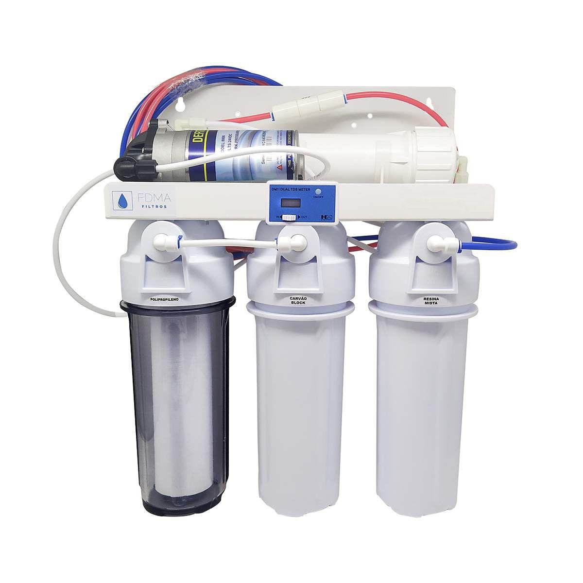 Filtro Osmose Reversa 50gpd Deionizador+ Bomba + Tds Inline