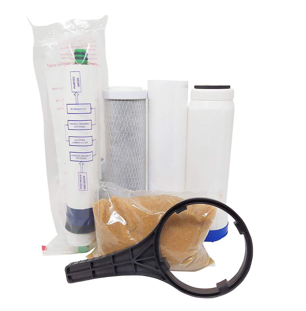 Filtro Osmose Reversa+deio +bomba Pressurizada 100gpd C/ Nfe