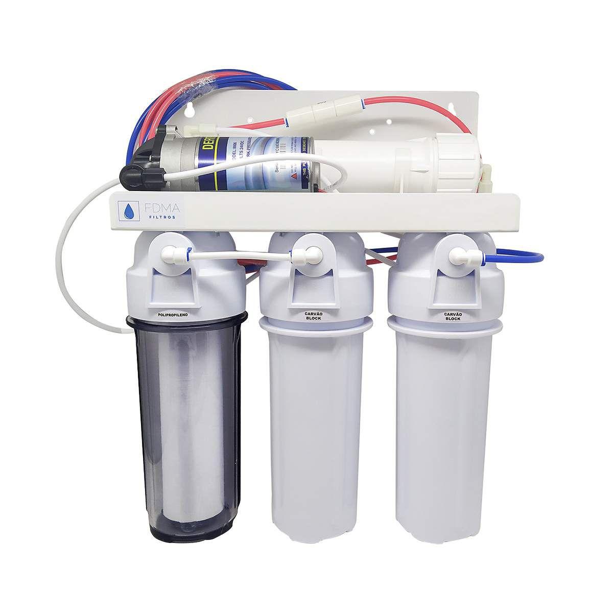 Filtro Osmose Reversa+deio + Bomba Pressurizada 50gpd C/ Nfe