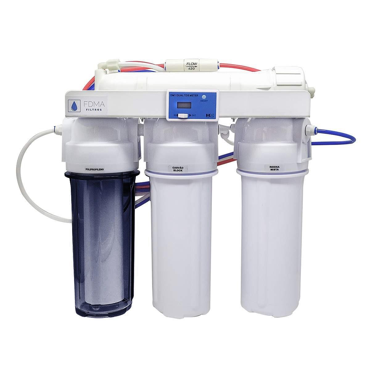 Filtro Osmose Reversa + Di 100gpd Com Tds In-line C/ Nfe
