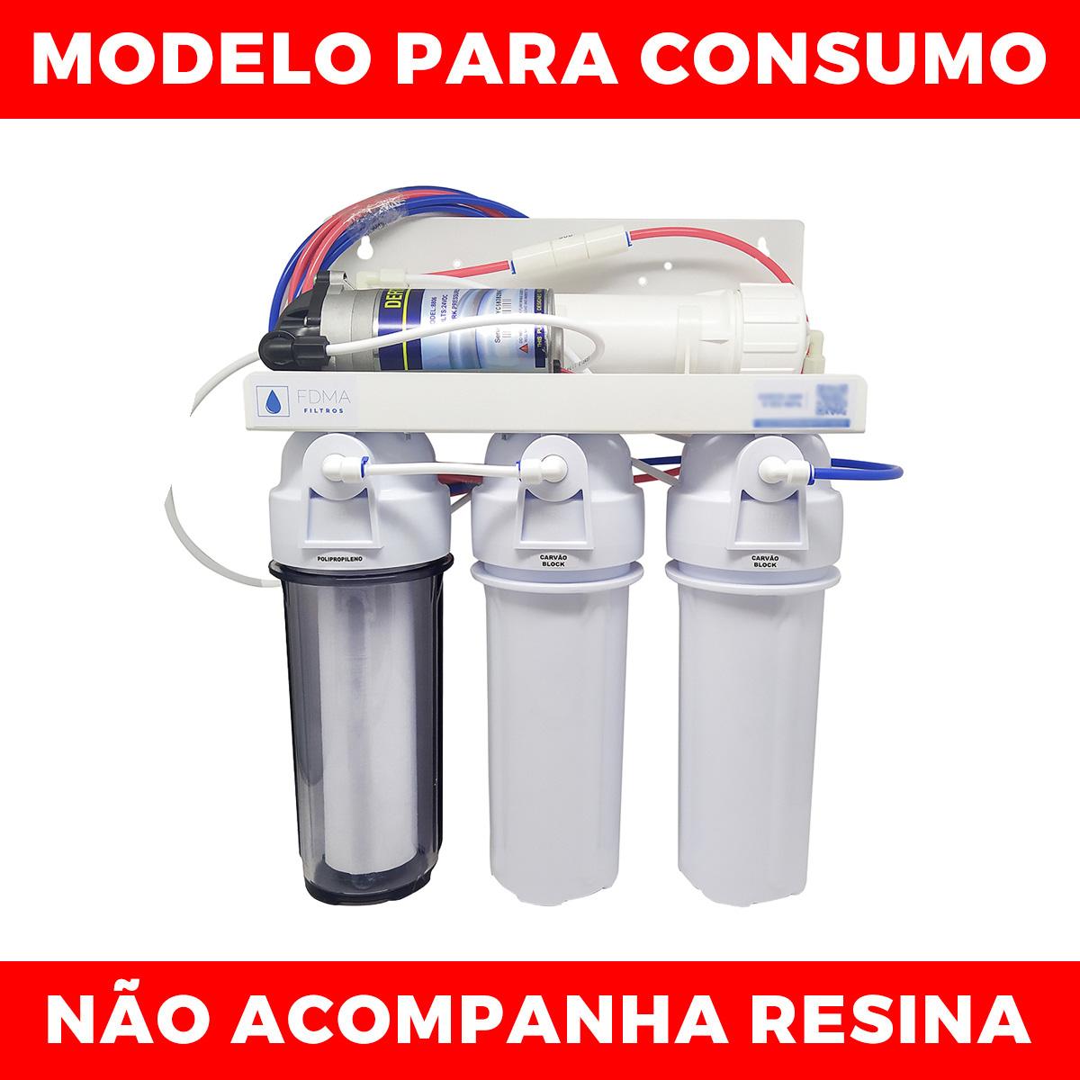 Filtro P/ Consumo Humano Osmose Reversa 100gpd com Bomba