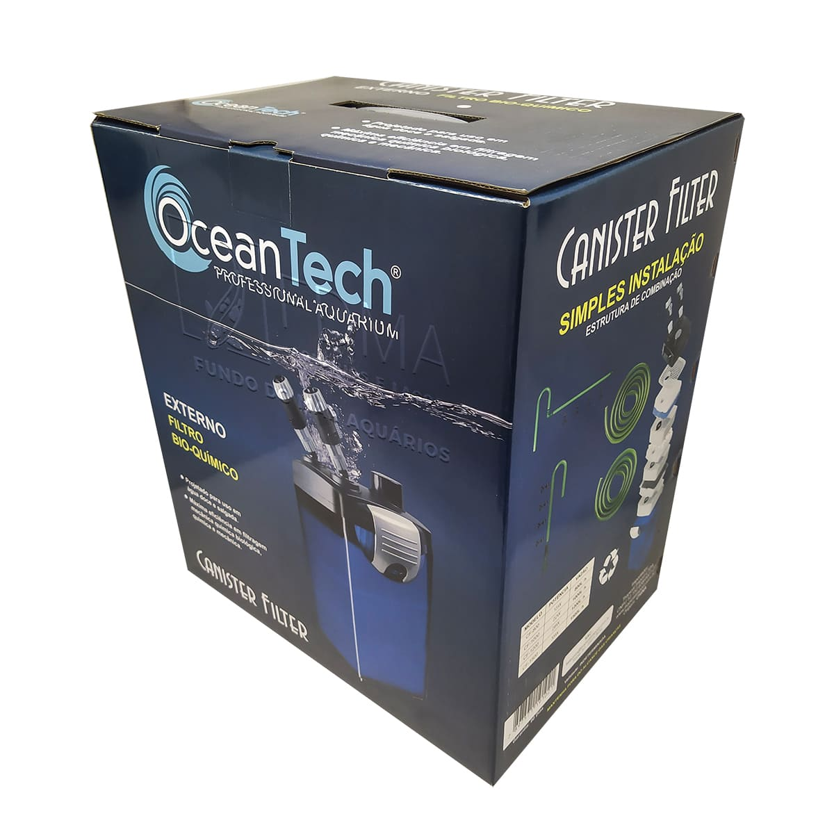 Filtro Canister Ocean Tech CF 1000 1000L/H Aquários até 150L
