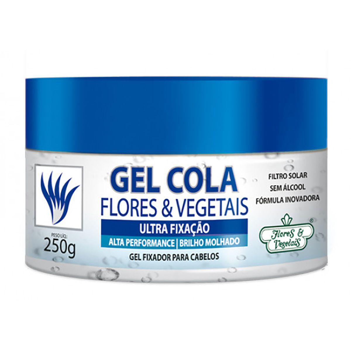 GEL COLA ULTRA FIXAÇÃO FLORES E VEGETAIS - 250G