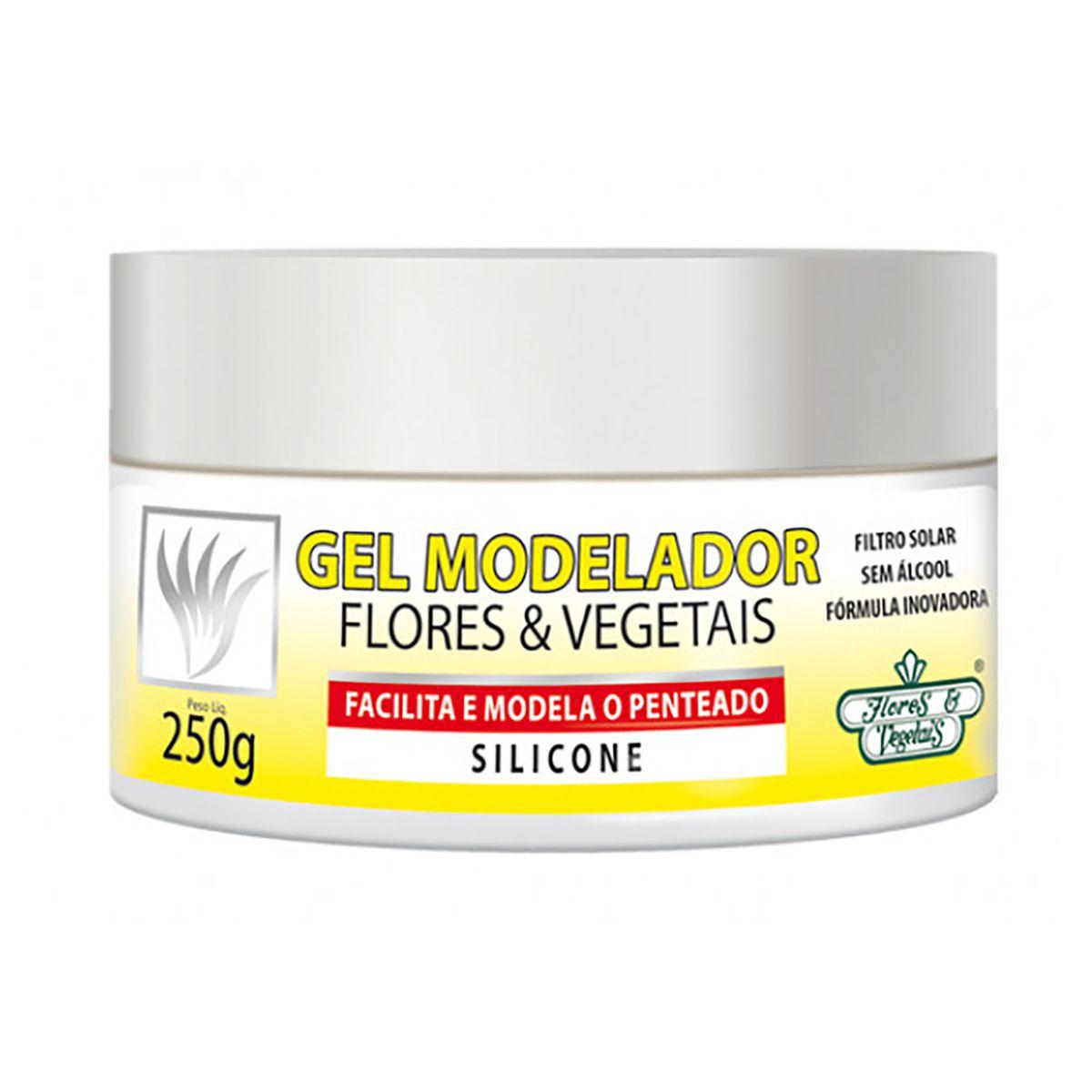 Gel Modelador Capilar Flores e Vegetais -  250G