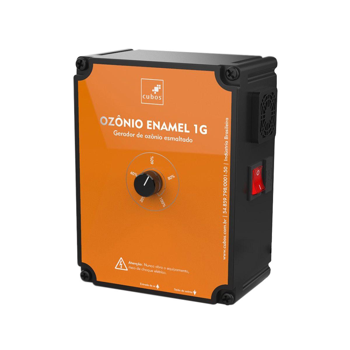 Gerador de Ozônio Cubos Enamel 1G - de 2000 a 10000 Litros