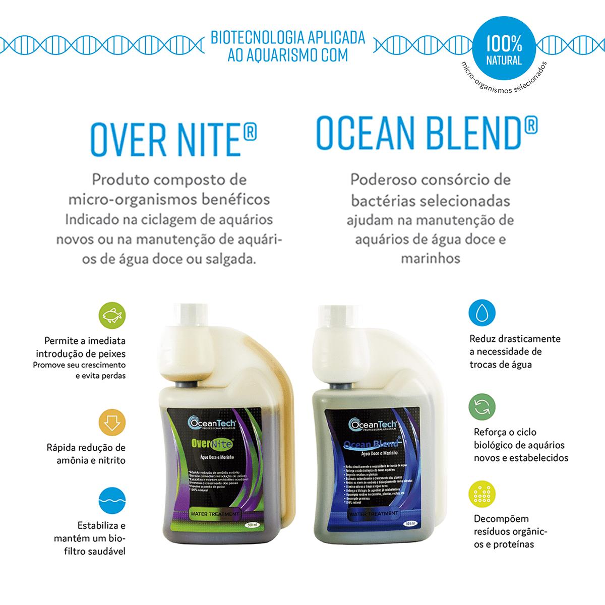 Kit Biológico Ocean Tech Ocean Blend + Over Nite - 500ml
