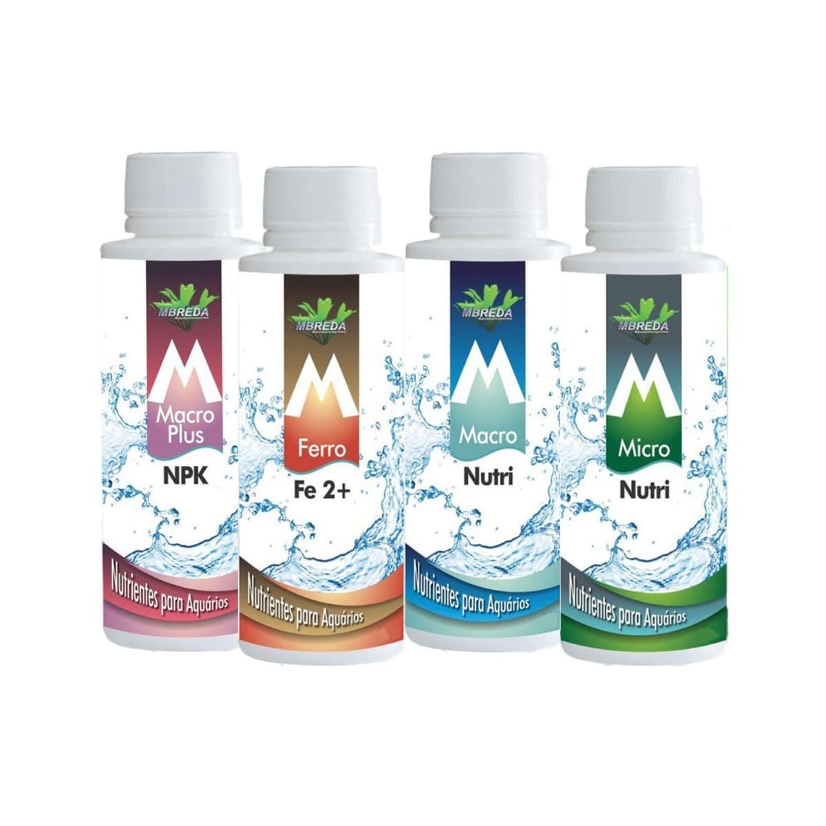 Kit Fertilizantes para Aquários Plantados  Mbreda - 120ml
