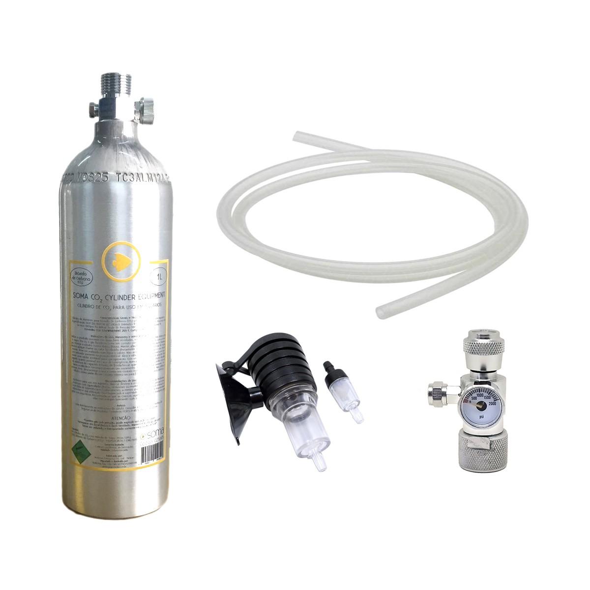 Kit Profissional de CO2 para Aquários Plantados Soma 1 Litro
