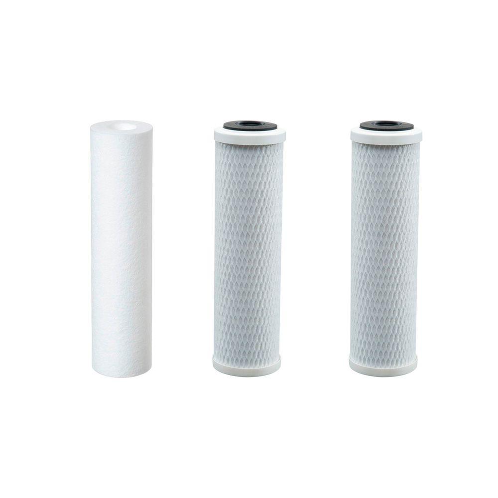 Kit Refil Filtro Purificador 3 Estágios Consumo Humano