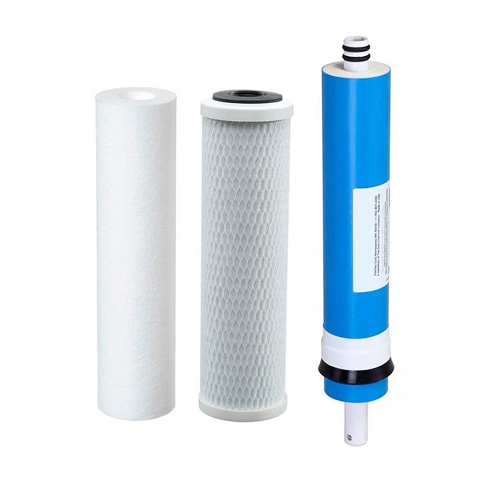 Kit Refil Osmose Reversa PP- Carvão - Membrana 100gpd