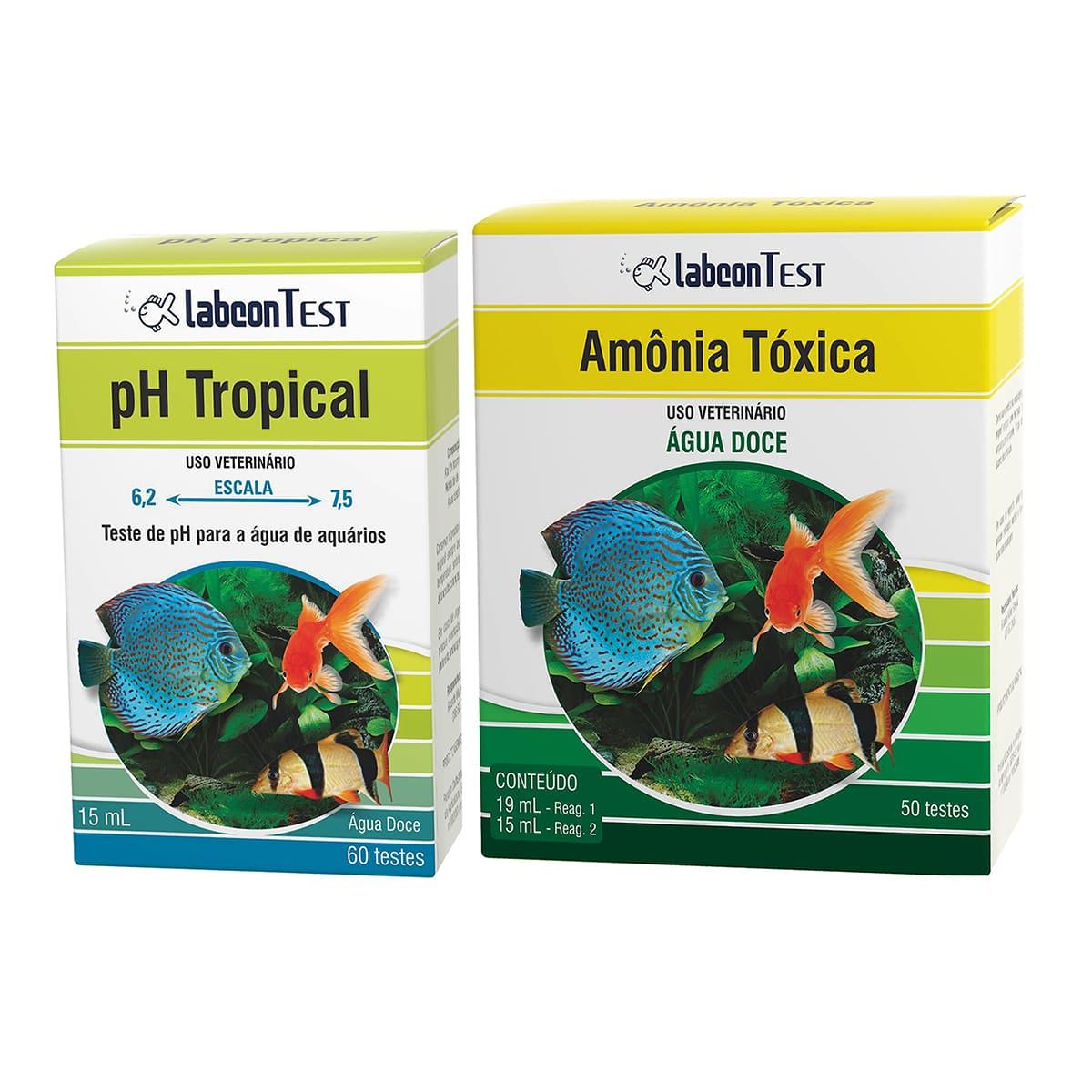 Kit Teste Labcon pH e Amônia para Aquários de Água Doce