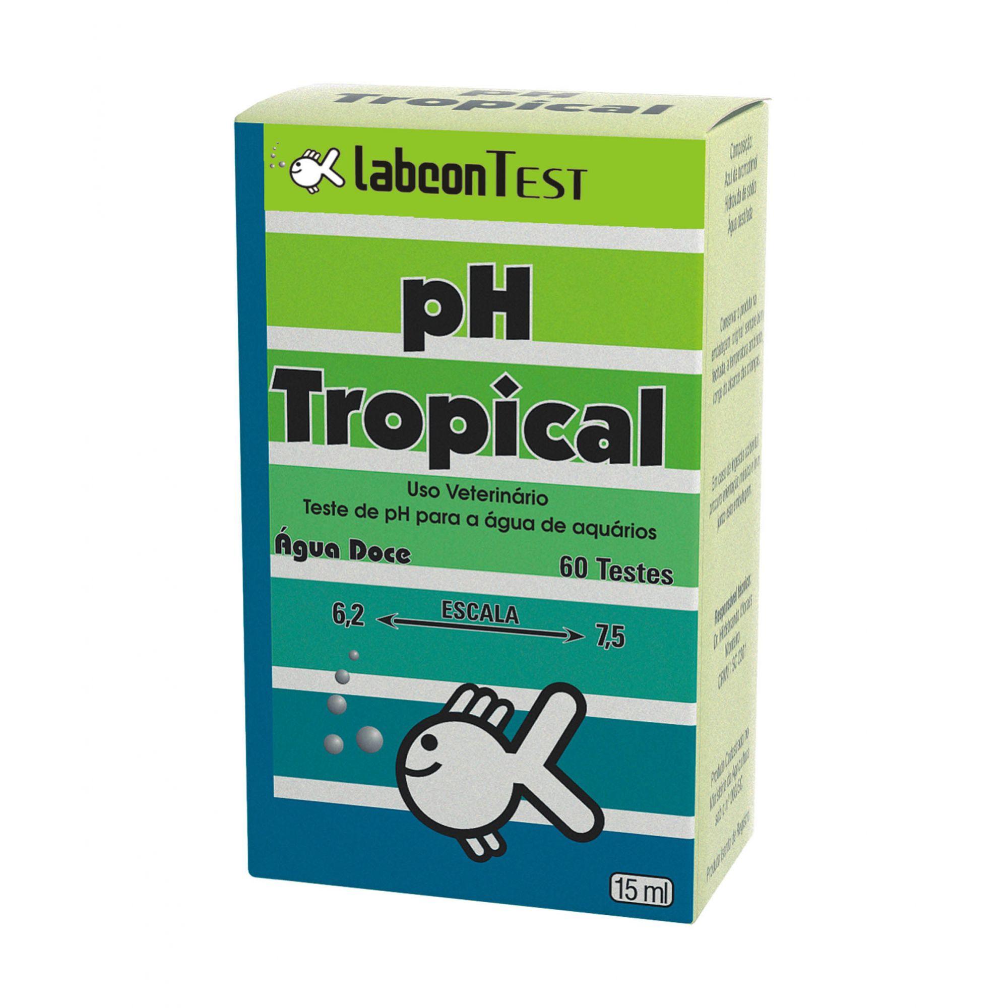 Alcon Labcon Teste De pH Tropical Água Doce 15ml 60 Testes