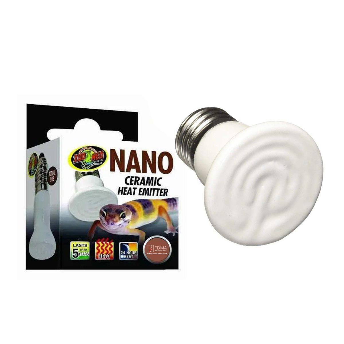 Lâmpada Zoomed Ce 25n Nano Emissora de Calor para Répteis