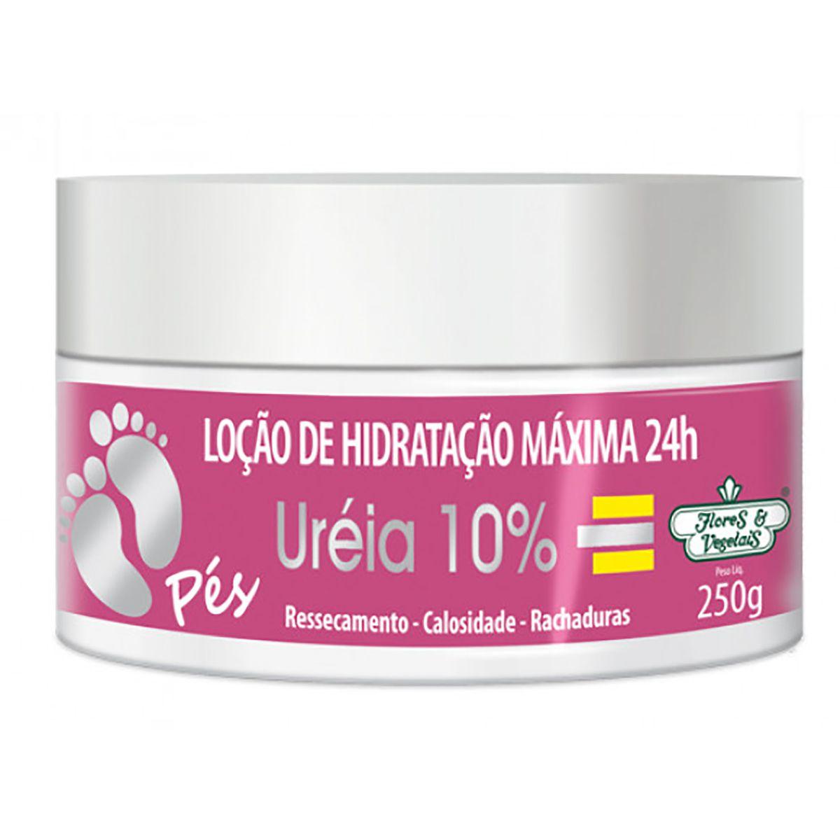 Loção de Hidratação Máxima Uréia 10% PÉS Flores e Vegetais 250g