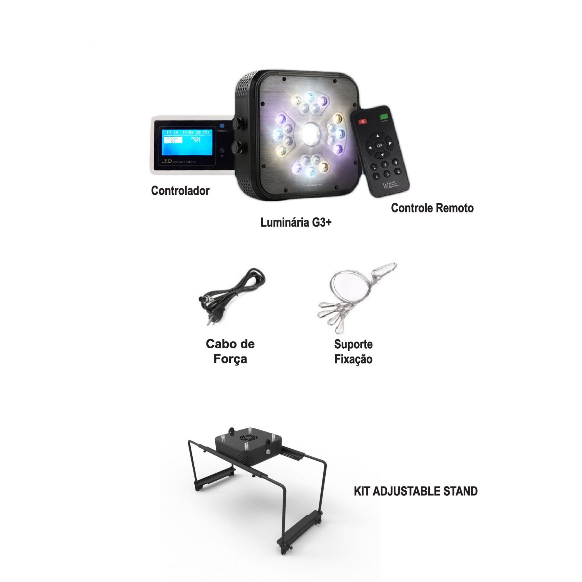 Luminária + Controlador + Suporte Ajustavel Ctlite G3 90w