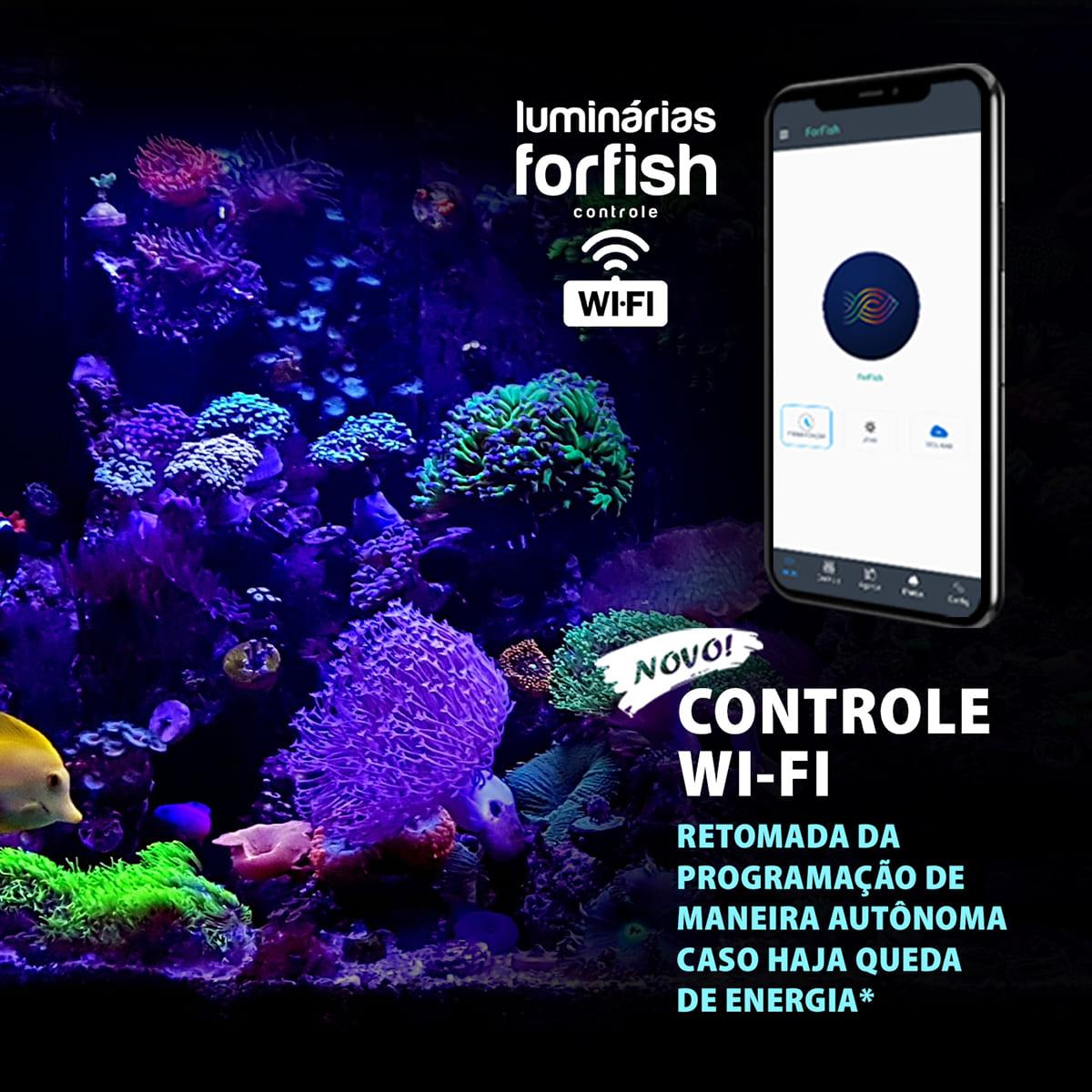 Luminária LED ForFish 40W p/ Aquários Marinhos de 50 a 92cm