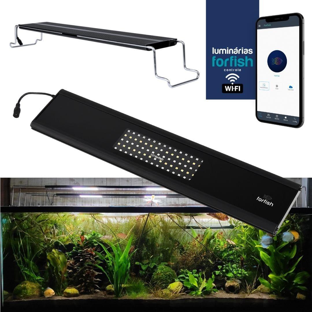 Luminária LED ForFish 40W p/ Aquários Plantados de 50 a 92cm