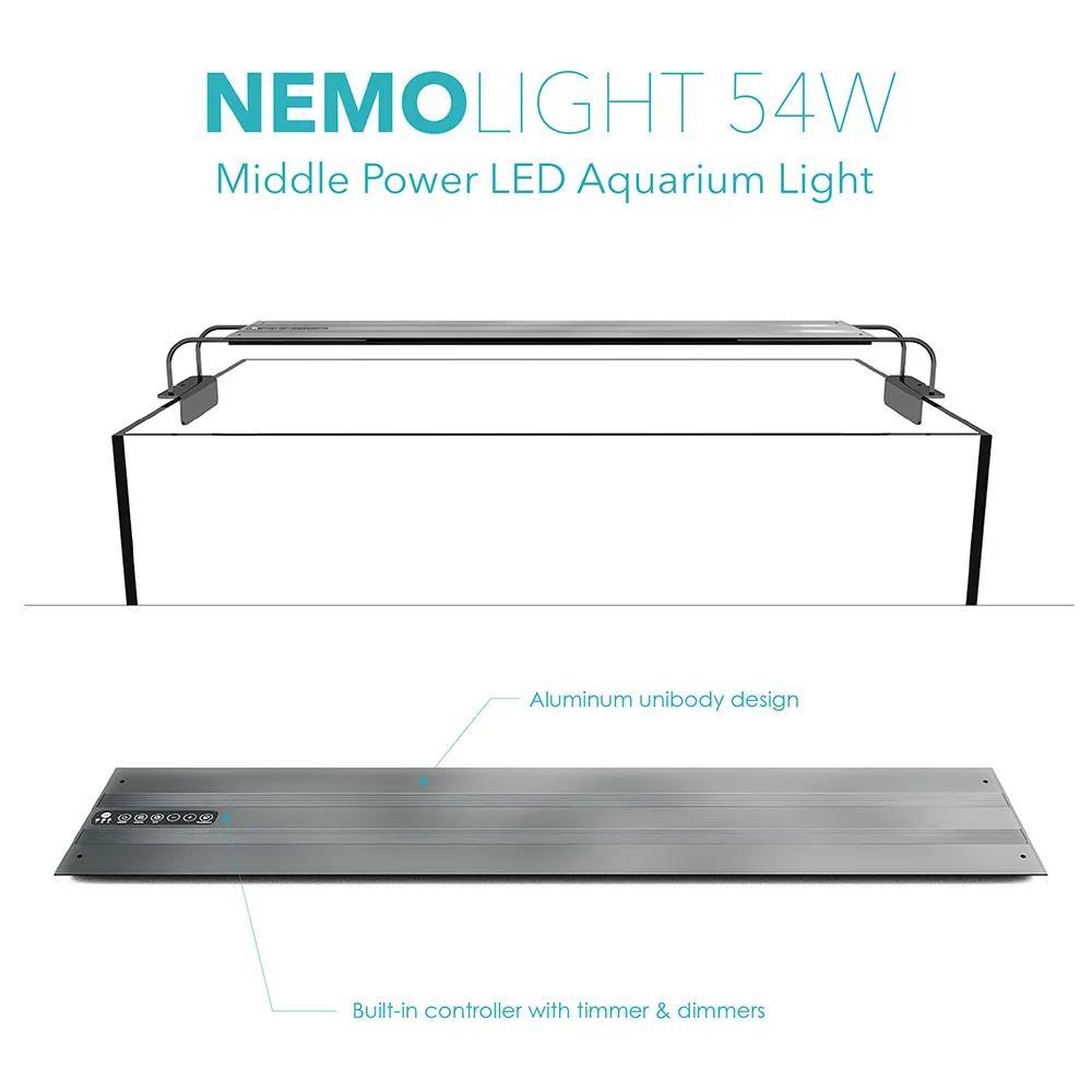 Luminária Led Nemo Light Plantado 54w Garantia De 1 Ano