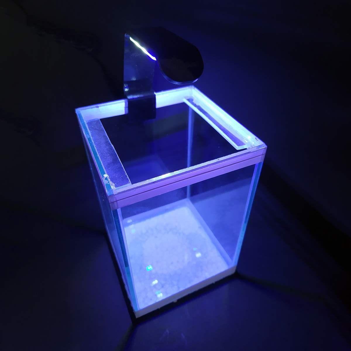 Luminária LED para Aquários Betta Aqualumi Branco / Azul